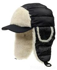 NEW MONCLER GRENOBLE LUXURY TRAPPER AVIATOR LOGO DOWN SHEEP SHEARLING FUR HAT XL