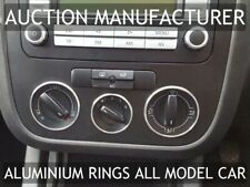 VW Jetta 2005-2010 Heater Surrounds A/C Control Rings Polished Alloy x3