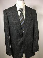 Dellacort Demarcos Mens Tweed Window Pane Woven Blazer Sports Jacket 42L Gray
