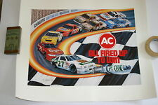 LATE 1980'S FULL COLOR NASCAR SAM BASS AC POSTER 20 X 24 RICHMOND SCHRADER