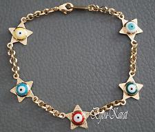 Nazar Evil Eye 18 KGP Sterne Gold Armband Magisches Blaues Auge Böser Blick Star