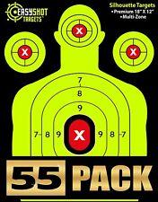 55 Pack Silhouette Shooting Targets Heavy Grade Practice Gun Rifle Pistol