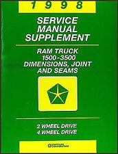 1998 Dodge Ram Truck 1500 2500 3500 Body Repair Manual