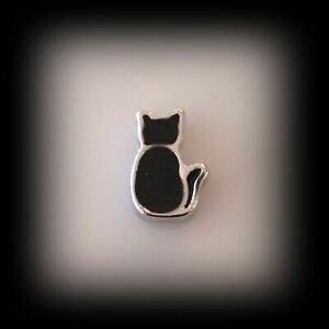 Black Cat Floating Charm