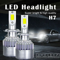 2x H7 1000W 270000LM LED Headlight Bulbs Conversion Kit 6000K High Low Beam