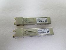 Lot of 2 Cisco GLC-T 1000BASE-T SFP transceiver module