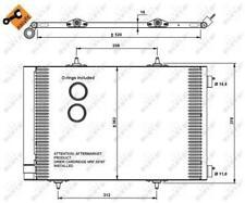 A/C Air Condenser Radiator Citroen Peugeot:DS3,208,207,C3 II 2,C3 Picasso,SW