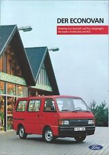 Truck Brochure - Ford - Econovan - c1986 - GERMAN language Prospekt Auto (T2201)