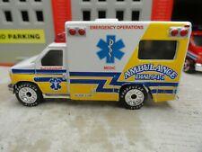 MATCHBOX FIRE MEDIC FORD AMBULANCE EMERGENCY OPERATIONS CUSTOM UNIT