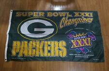 New listing Vintage Green Bay Packers Super Bowl XXXI Champions Banner 1997 3ftx5ft