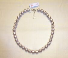 """NWT Majorica Mauve Pearl Baroque Necklace 12mm Knotted 20"""" Sterling Silver $355"""