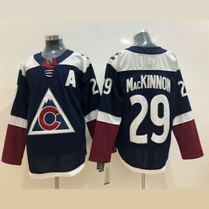 Colorado Avalanche 29 Nathan MacKinnon Ice Hockey Stitched Men's Jersey Black