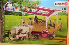 Schleich Horse Club Reitschule mit Pick-up und Pferdeanhänger 42403 NEU/OVP