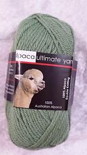 Alpaca Ultimate 8 Ply Gum Tree Green 100% High Quality Alpaca Luxury