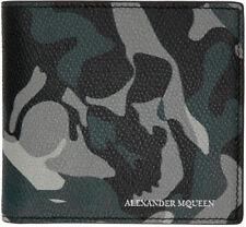 ALEXANDER McQUEEN 'Camouflage' Men's Leather Printed Canvas Wallet Bi-fold *NEW*