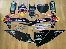 KTM SX SXF XC XCF 19-20 EXC 20 BLACK FULL  GRAPHIC STICKER KIT Motocross Enduro