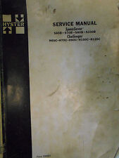 Hyster Service Manual Spacesaver S60B-S100B Challenger H60C-H120C