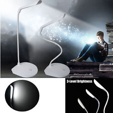 Dimmable Touch Sensor LED Desk Table Lamp Beside Reading Light USB Rechargeable