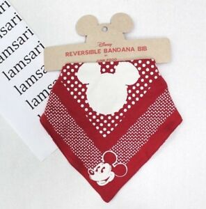 Disney Mickey Mouse Reversible Bandana Bib Red by Junk Food