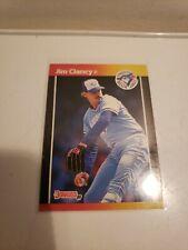 1989 Donruss #267 Jim Clancy - Toronto Blue Jays - Baseball Card - No Dot
