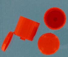 1500 Plastic Bottle Caps, 28-415 flip top. Orange. NEW