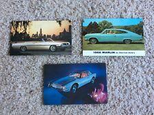 1960s Pontiac, Rambler, and Studebaker factory post cards