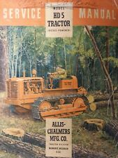 Allis Chalmers Hd 5 Diesel Crawler Dozer Tractor Major Overhaul Service Manual
