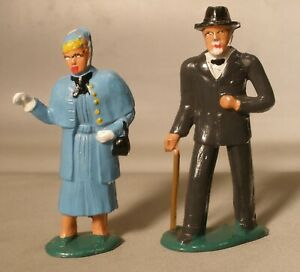 Barclay Dime Store Figures of Man and Woman