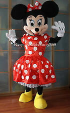 New Minnie Mouse Mascot Costume Adult Size Fancy Dress Big Sale