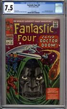 Fantastic Four 57 CGC Graded 7.5 VF- White  Marvel Comics 1966