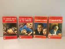 """Lote de 4 novelas Policiacas - Colección """" El Buho """" - 154/27"""