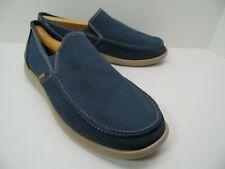NWOT New Crocs Santa Cruz Clean Cut Loafer Navy Blue Slip On Shoes Men's Size 11