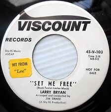 LARRY BRYAN w.Female group Promo vg cond.45 ON THE OUTSIDE b/w SET ME FREE F1280