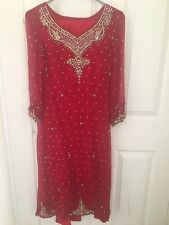 red dress size 8 used