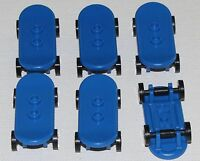 LEGO LOT OF 6 NEW BLUE MINIFIGURE SKATEBOARDS MINIFIG PIECES