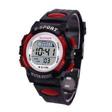 Sport Waterproof Digital LED Wrist Watch Silicone Band for Children Girls Boys