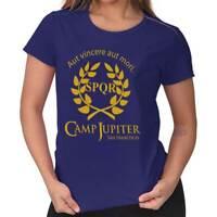 Camp Jupiter Percy Half Blood Roman Demigod Classic Hero Ladies Tee Shirt T