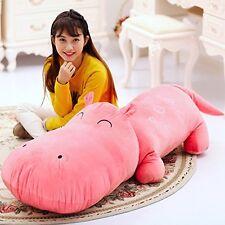 Pink Hippo 120CM Big Plush Cute Giant Large Stuffed Plush Toy Doll Pillow-1pcs A