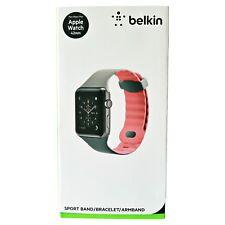 Genuine Belkin Apple Watch 1, 2 & 3 42 mm Sport Strap Band Bracelet Grey Pink