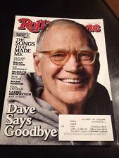 David Letterman Rolling Stone Magazine #1235 May 21, 2015