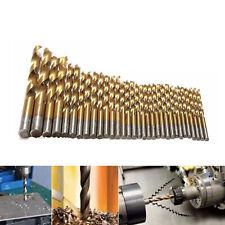 99pcs Titanium Drill Bit Set Steel Metal Wood Carpenter Masonry Hobby 1.5-10mm