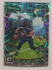 One (1) 2018 Donruss Optic Russell Wilson Downtown PRIZM Seattle Seahawks