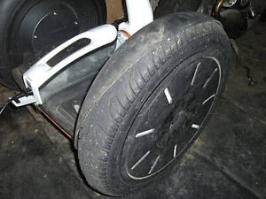2 straight used Rims/Wheels for Segway i2/i2 SE. + bald tire and very used tube.