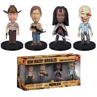 The Walking Dead Pack 4 figurines Bobble Head Wacky Wobbler - Funko