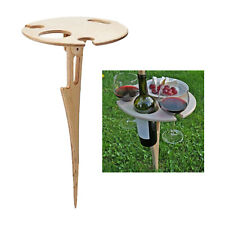 Portable Folding Outdoor Wine Table Beach Bottles Holder Foldable Wine Stand