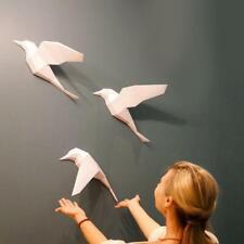 3 Pcs/set Three Flying Birds Wall Hanging Models 3D DIY Paper Art Craft R0I0