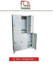 Armadio Armadietto Spogliatoio 6 Posti Salva Spazio Sovrapposti Dim 105x50x180