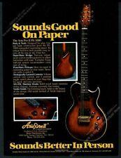 1979 Aria Pro II PE-1000 guitar photo vintage print ad