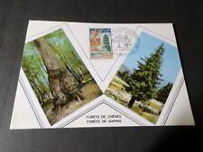 FRANCE 1968, CM 1° jour timbre 1561, FORET RAMBOUILLET ET FORET NOIRE, VF FDC