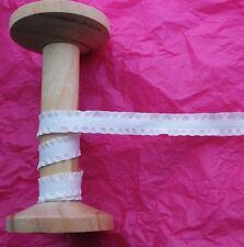 15mm White Faux Suede Ruffle Ribbon Trim - Metre